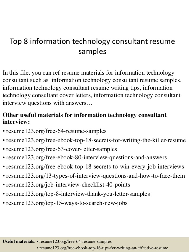 top information technology consultant resume samples sample for school secretary position Resume Technology Consultant Resume Sample