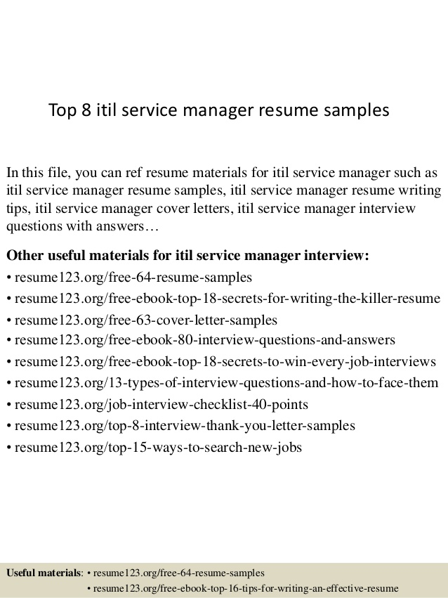 top itil service manager resume samples certified format peace corps plastic industry Resume Itil Certified Resume Format