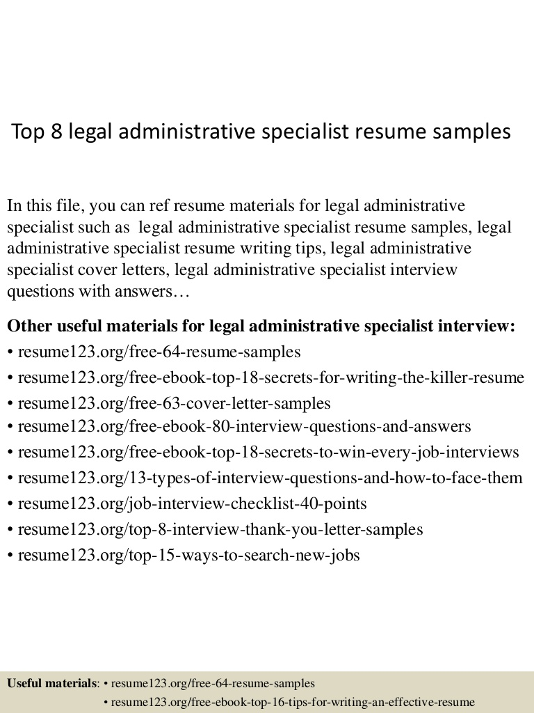 top legal administrative specialist resume samples patient administration Resume Patient Administration Specialist Resume