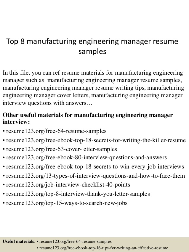top manufacturing engineering manager resume samples shipping receiving template for Resume Shipping Receiving Manager Resume