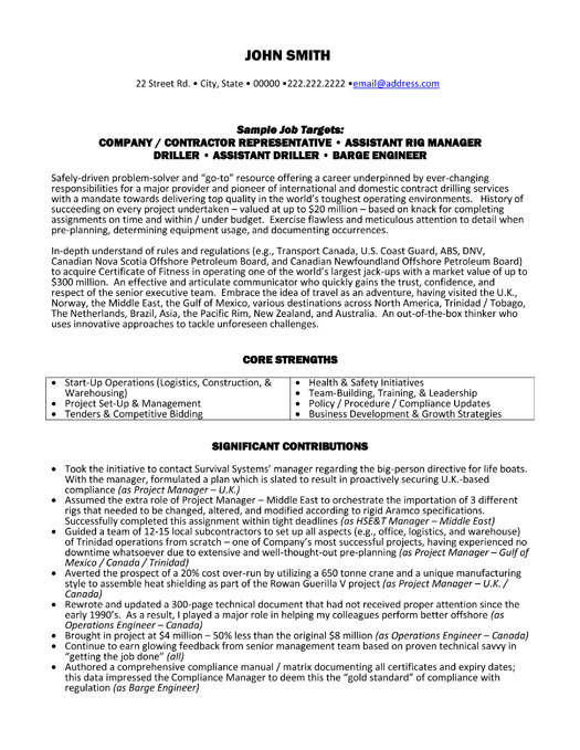 top oil gas resume templates samples objective for and og executive rig manager sample p1 Resume Objective For Resume Oil And Gas