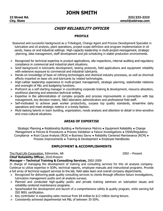 top oil gas resume templates samples rig template og executive chief reliability officer Resume Oil Rig Resume Template