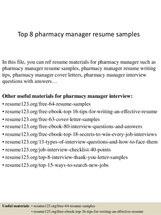 top pharmacy manager resume samples pharmacist example cover letter objective correction Resume Pharmacist Resume Example