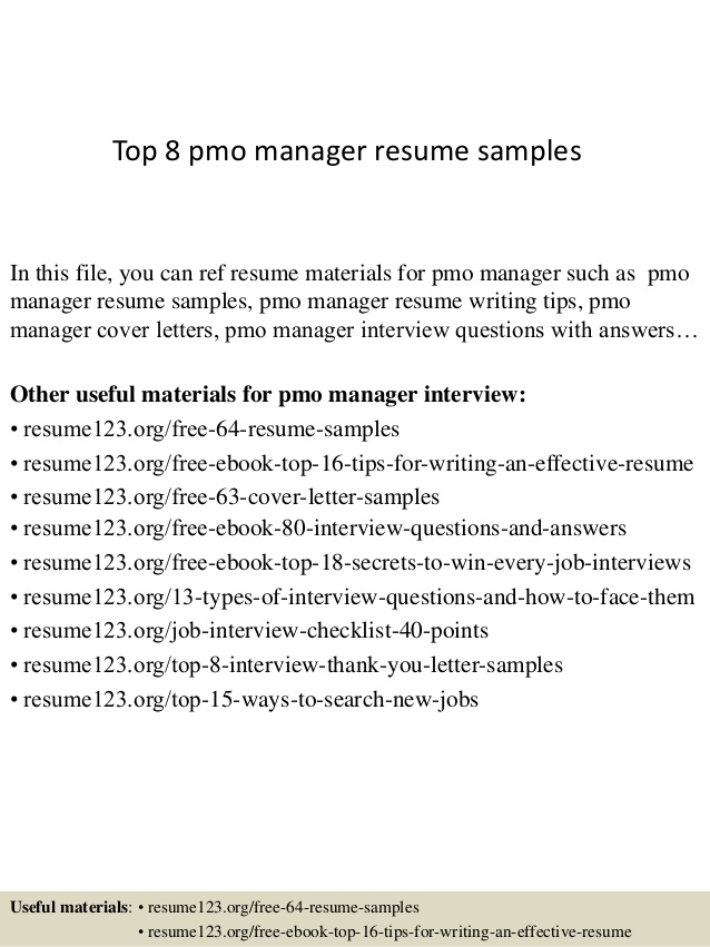top pmo manager resume samples project civil engineer objective statements Resume Pmo Project Manager Resume