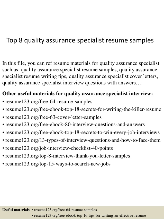 top quality assurance specialist resume samples additional training on hire desk builder Resume Quality Assurance Specialist Resume