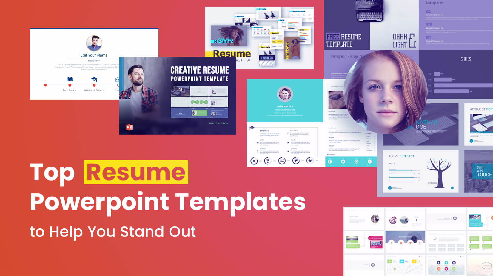 top resume powerpoint templates to help you stand out writing high school summary Resume Resume Writing Powerpoint High School