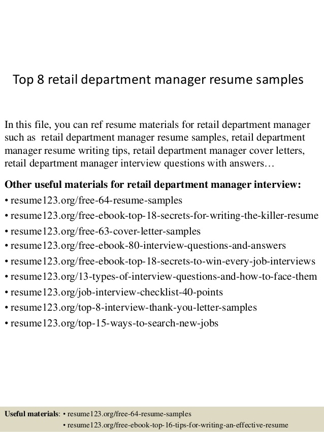 top retail department manager resume samples examples skills and experience clerical on Resume Retail Department Manager Resume Examples