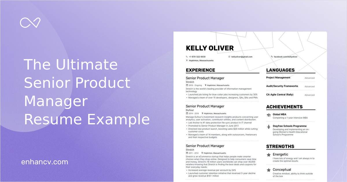 top senior product manager resume examples samples for enhancv entry level software Resume Senior Product Manager Resume