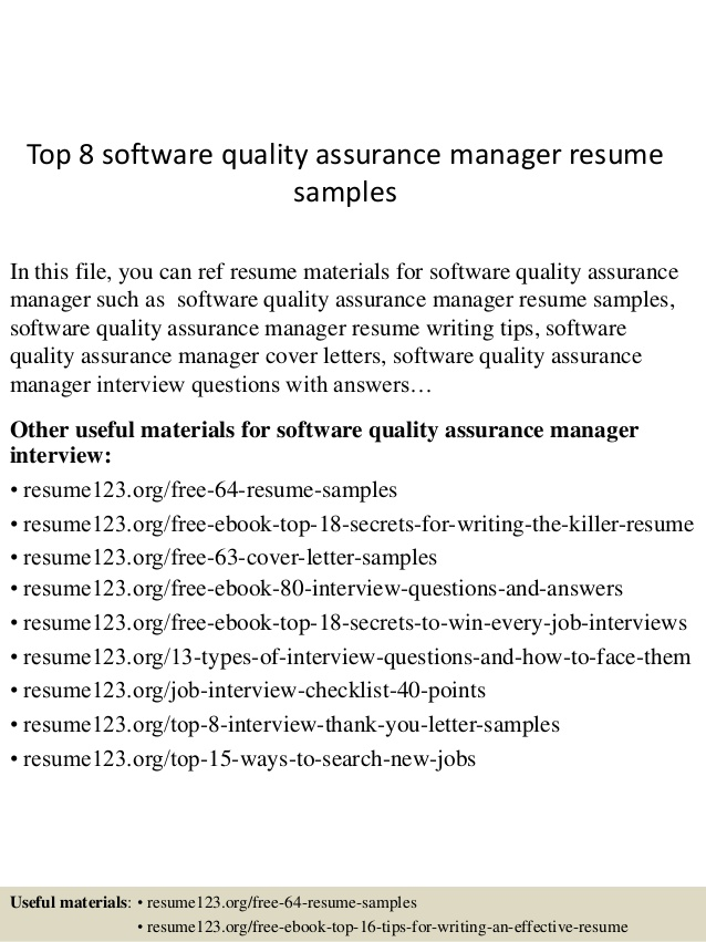 top software quality assurance manager resume samples contract specialist headline for Resume Quality Assurance Manager Resume