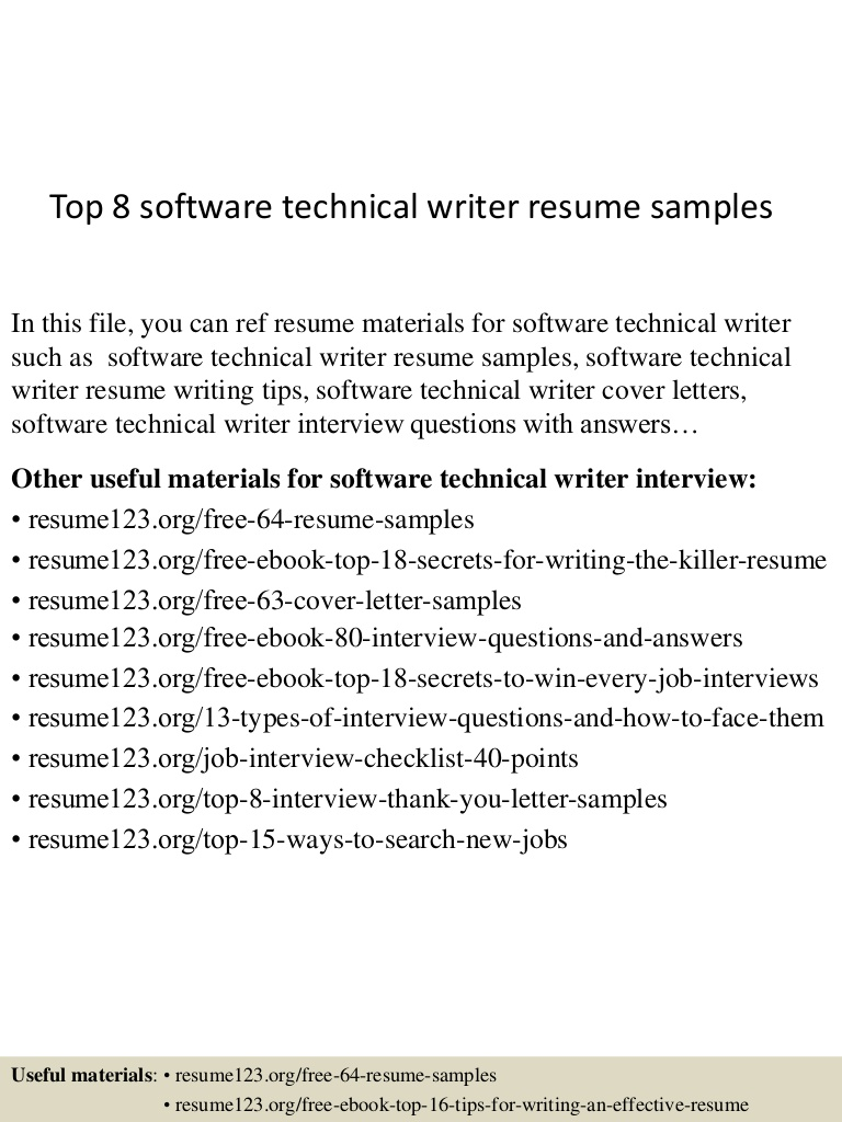 top software technical writer resume samples document Resume Technical Document Writer Resume