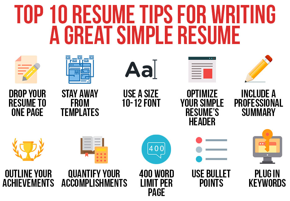 top tips for writing great resume better simple achievements examples monster search Resume Writing A Better Resume