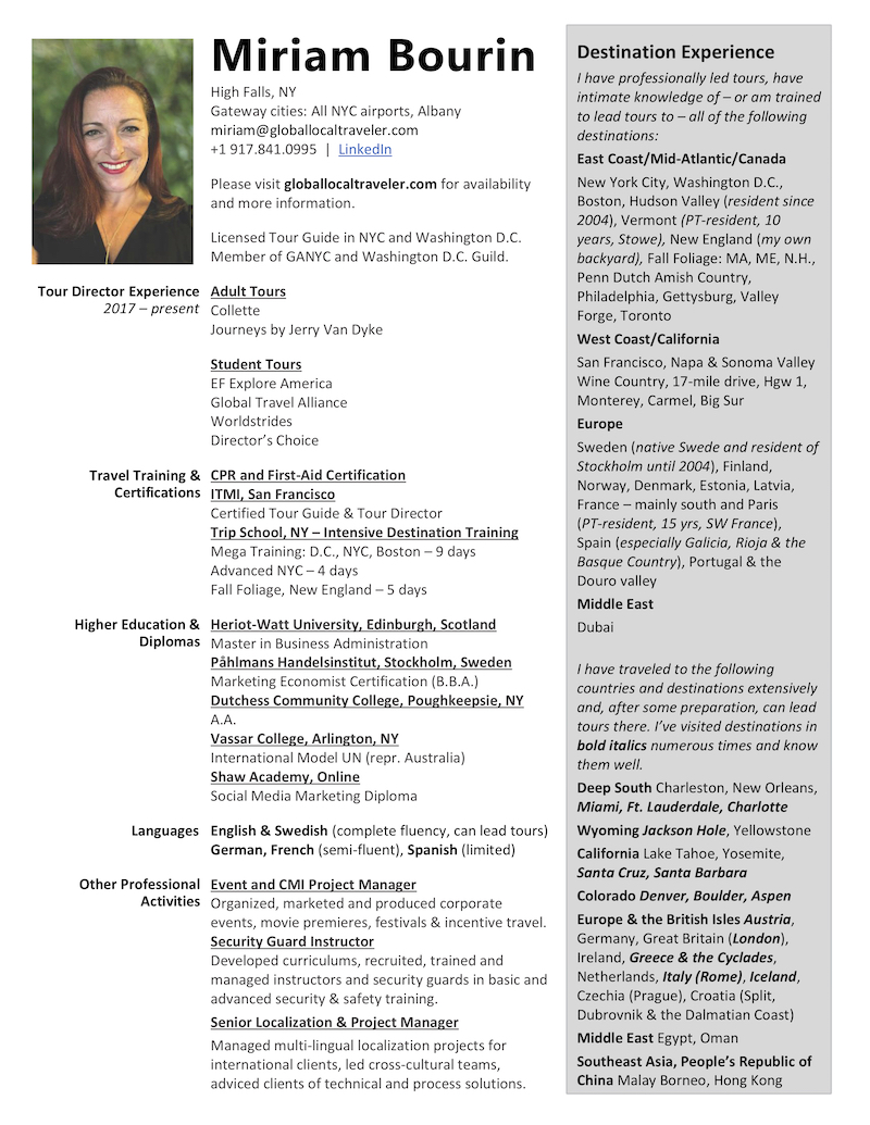 tour director resume tips tricks tripschool guide description for miriam piping foreman Resume Tour Guide Description For Resume