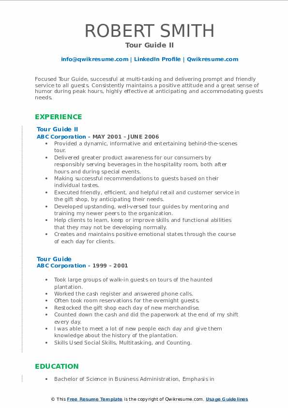 tour guide resume samples qwikresume description for pdf nurse aide examples industry Resume Tour Guide Description For Resume