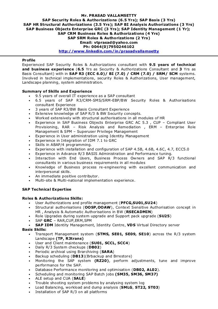 tp security cv sap basis resume for years experience qualification table free review Resume Sap Basis Resume For 3 Years Experience