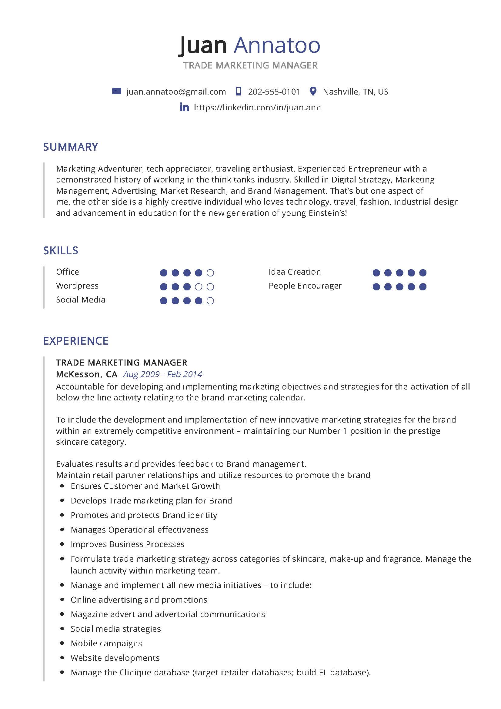 trade marketing manager resume example writing tips in year sample well designed examples Resume Marketing Manager Resume Sample