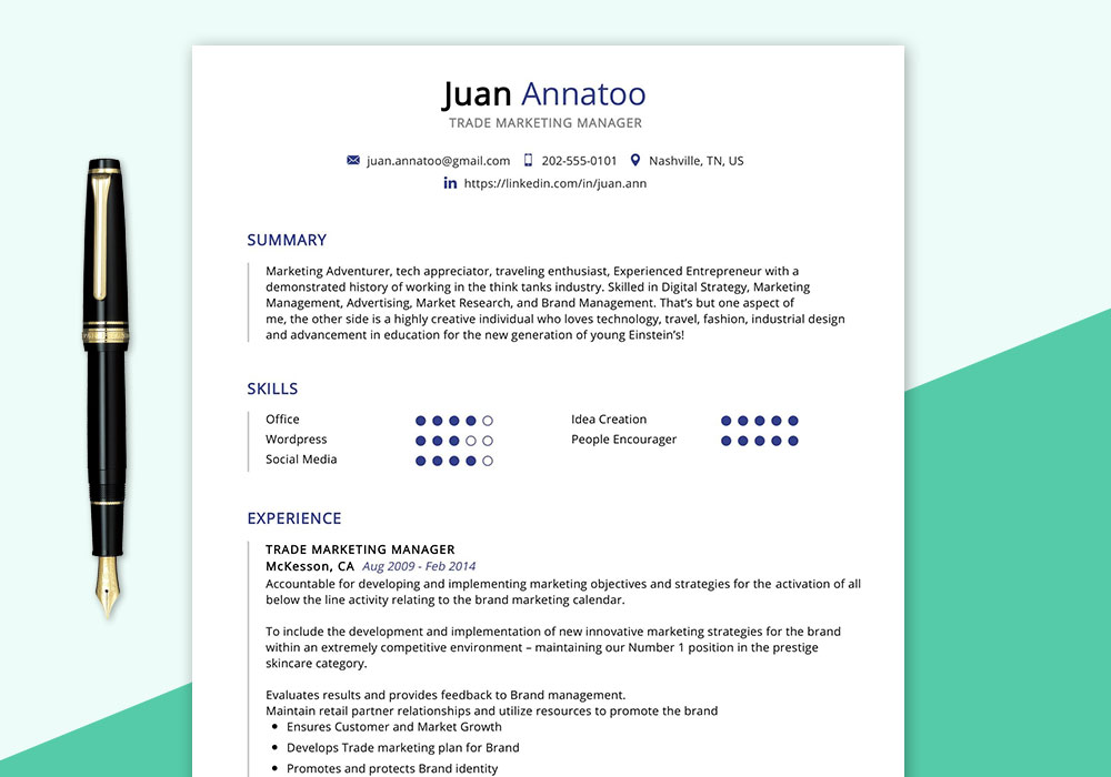 trade marketing manager resume sample maxresumes examples experience background image Resume Marketing Manager Resume Examples