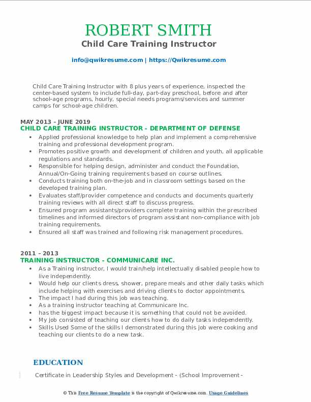training instructor resume samples qwikresume technical pdf best action words for Resume Technical Training Instructor Resume