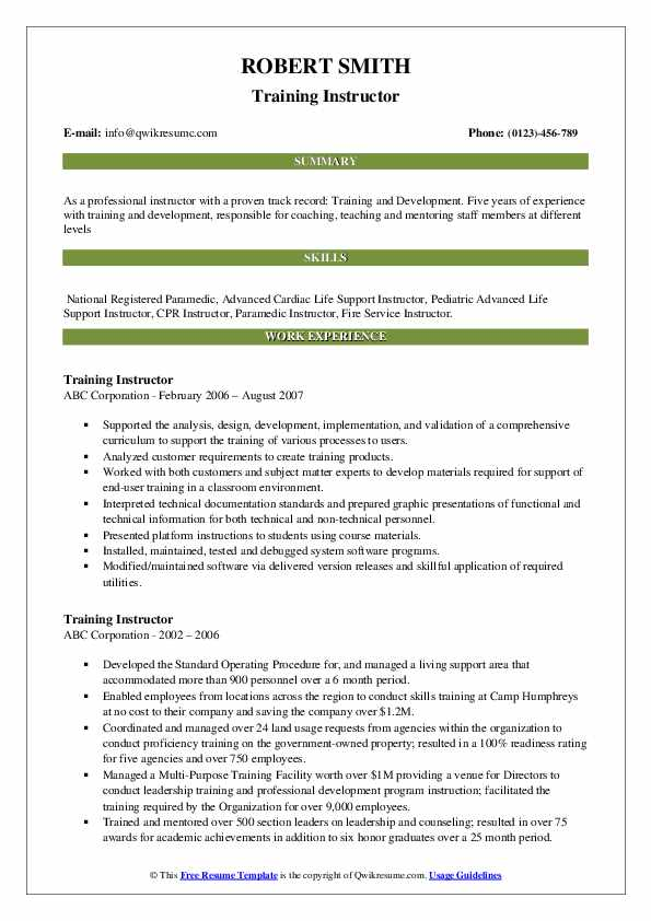 training instructor resume samples qwikresume technical pdf different styles house Resume Technical Training Instructor Resume
