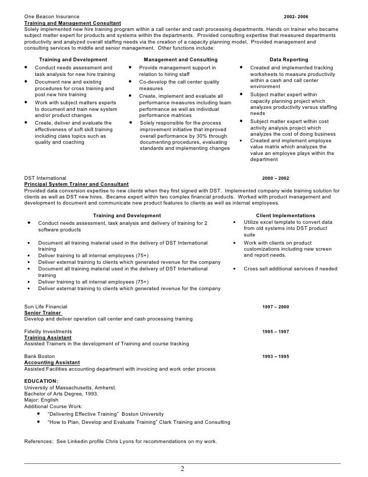 training resume chris lyons employees on clothing retail job description for operations Resume Training Employees On Resume