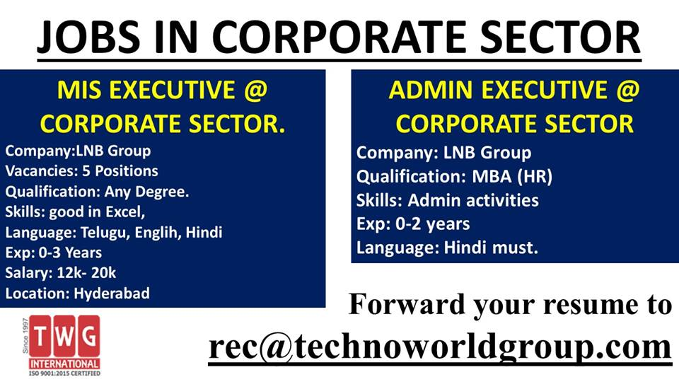 twg international on in corporate sector forward your resume to rec technoworldgroup Resume Mis Executive Resume Excel