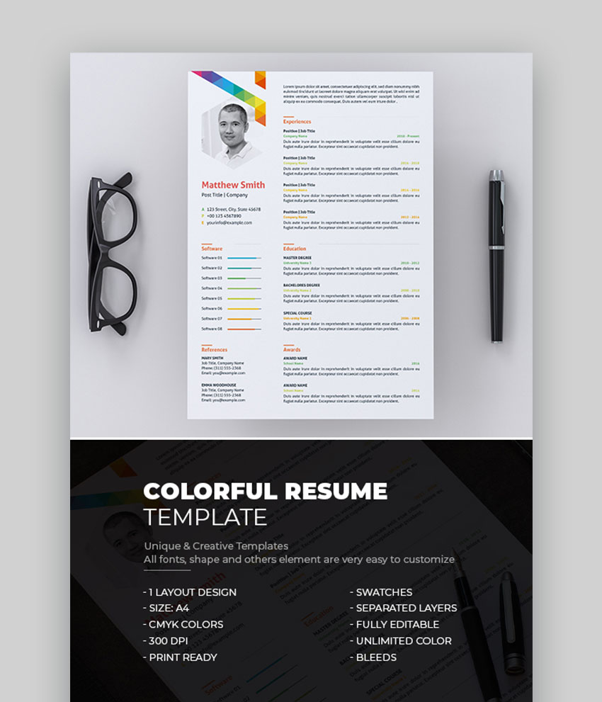 unique resume cv templates with interesting creative ideas examples colorful template Resume Creative Resume Examples 2021