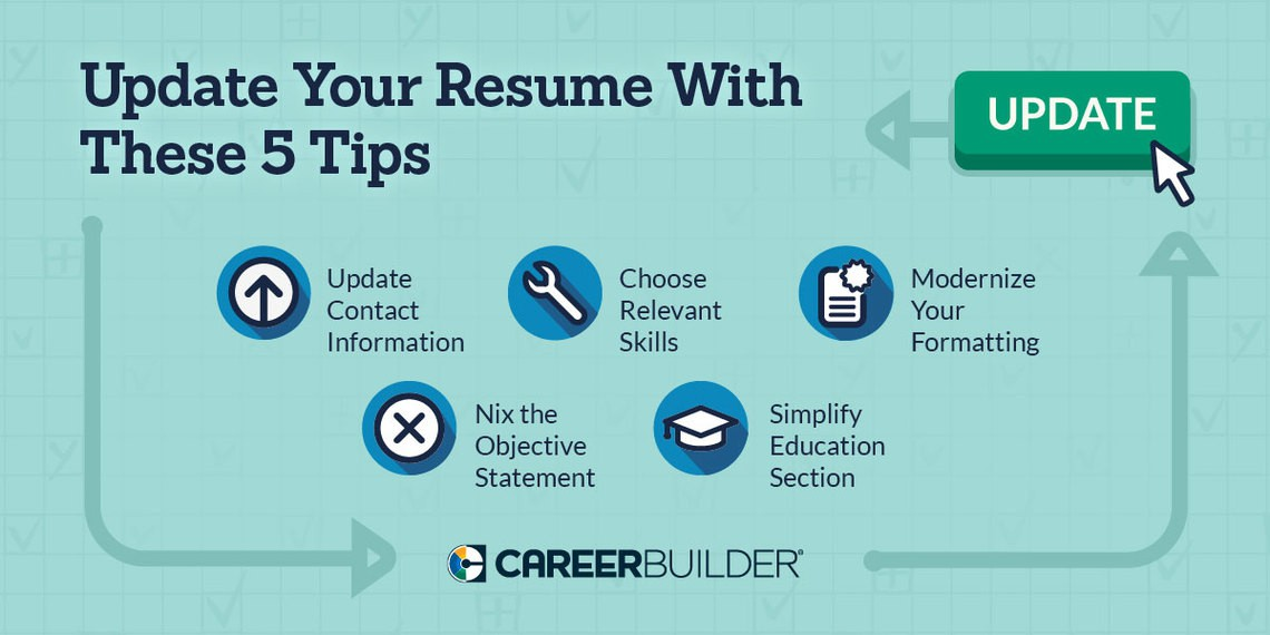 update these items on your resume careerbuilder modernize get noticed hired ar post Resume Modernize Your Resume Get Noticed Get Hired