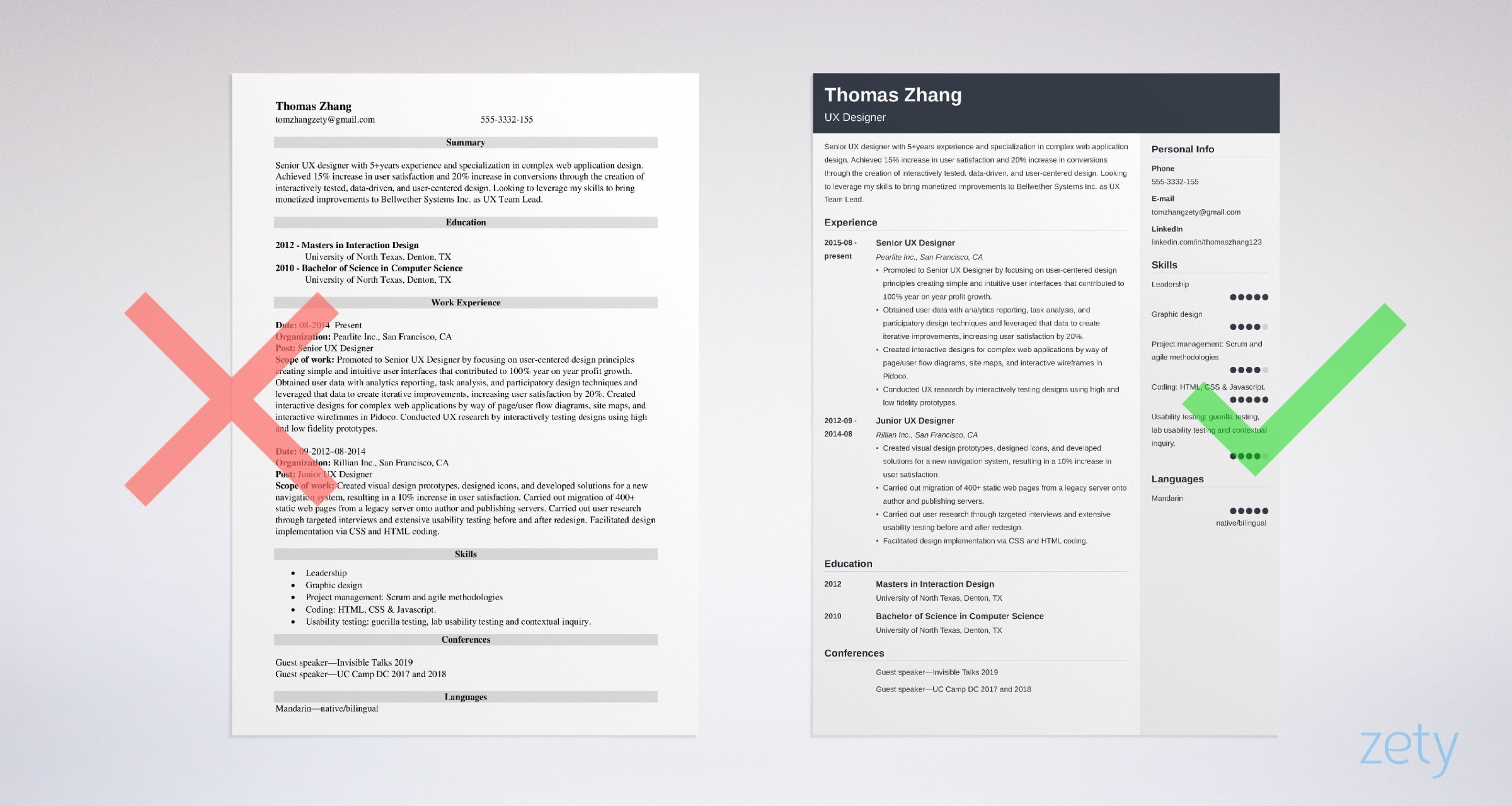 user experience ux designer resume sample interactive samples examples different styles Resume Interactive Resume Samples