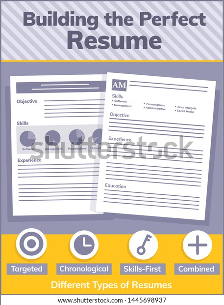 vector illustrated resume examples icons different stock royalty free styles of writing Resume Different Styles Of Resume Writing