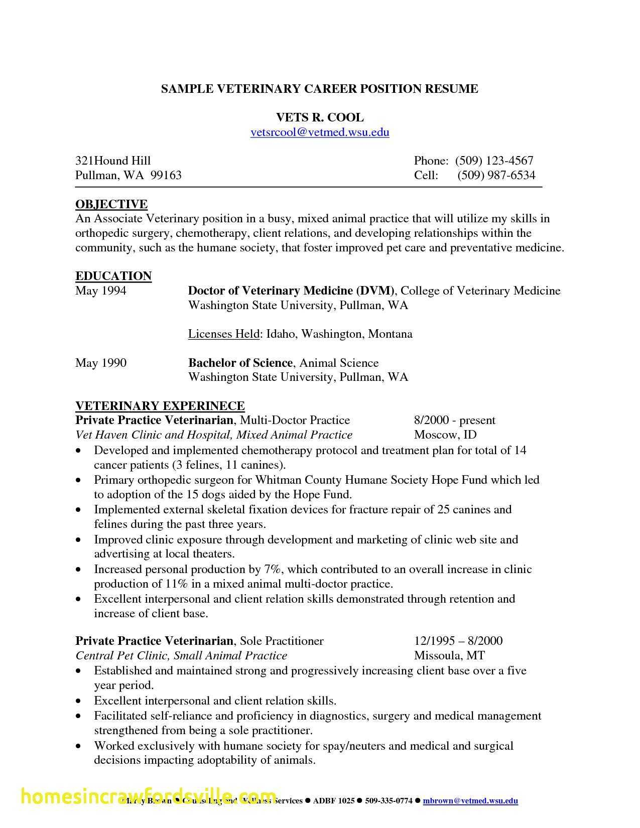 veterinarian resume ipasphoto objective for veterinary examples new beautiful template of Resume Objective For Veterinary Resume