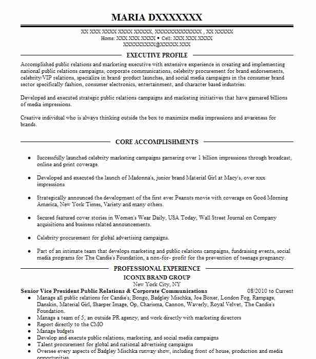 vice president communications resume example consultant new vp description table of Resume Vp Communications Resume