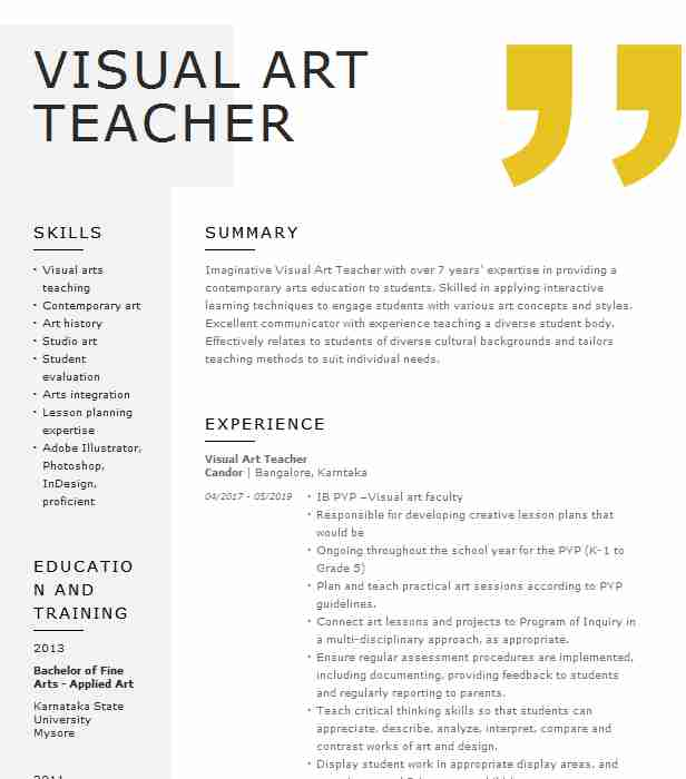 visual art teacher resume example lppacs pittsburgh education examples sas finance Resume Art Education Resume Examples