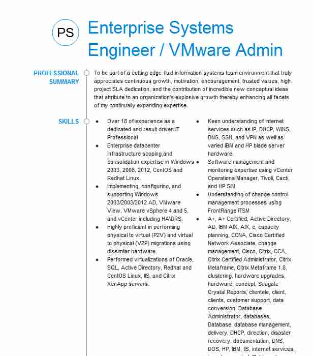 vmware systems administrator resume example solwizs inc plano responsibilities office Resume Vmware Administrator Resume Responsibilities