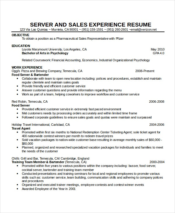 waitress resume template free word pdf document downloads premium templates entry level Resume Entry Level Server Resume