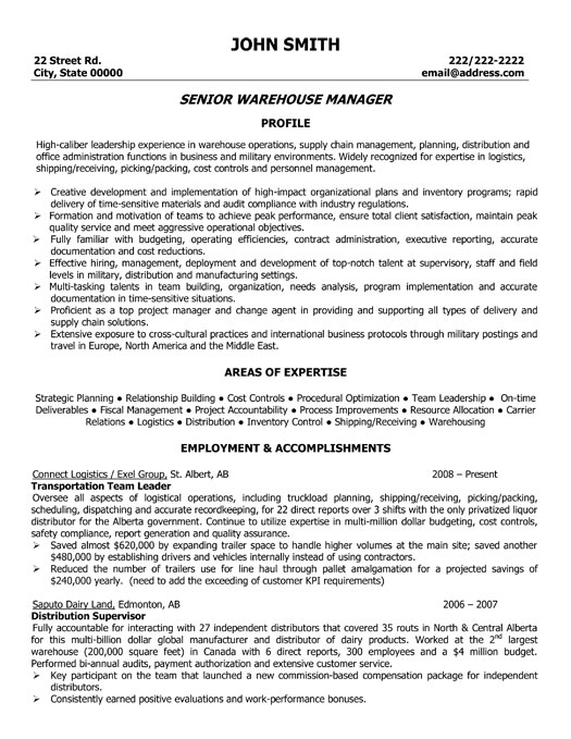 warehouse manager resume sample template shipping receiving mg professional senior Resume Shipping Receiving Manager Resume