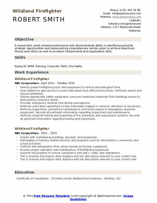 wildland firefighter resume samples qwikresume example entry level pdf client success Resume Firefighter Resume Example Entry Level