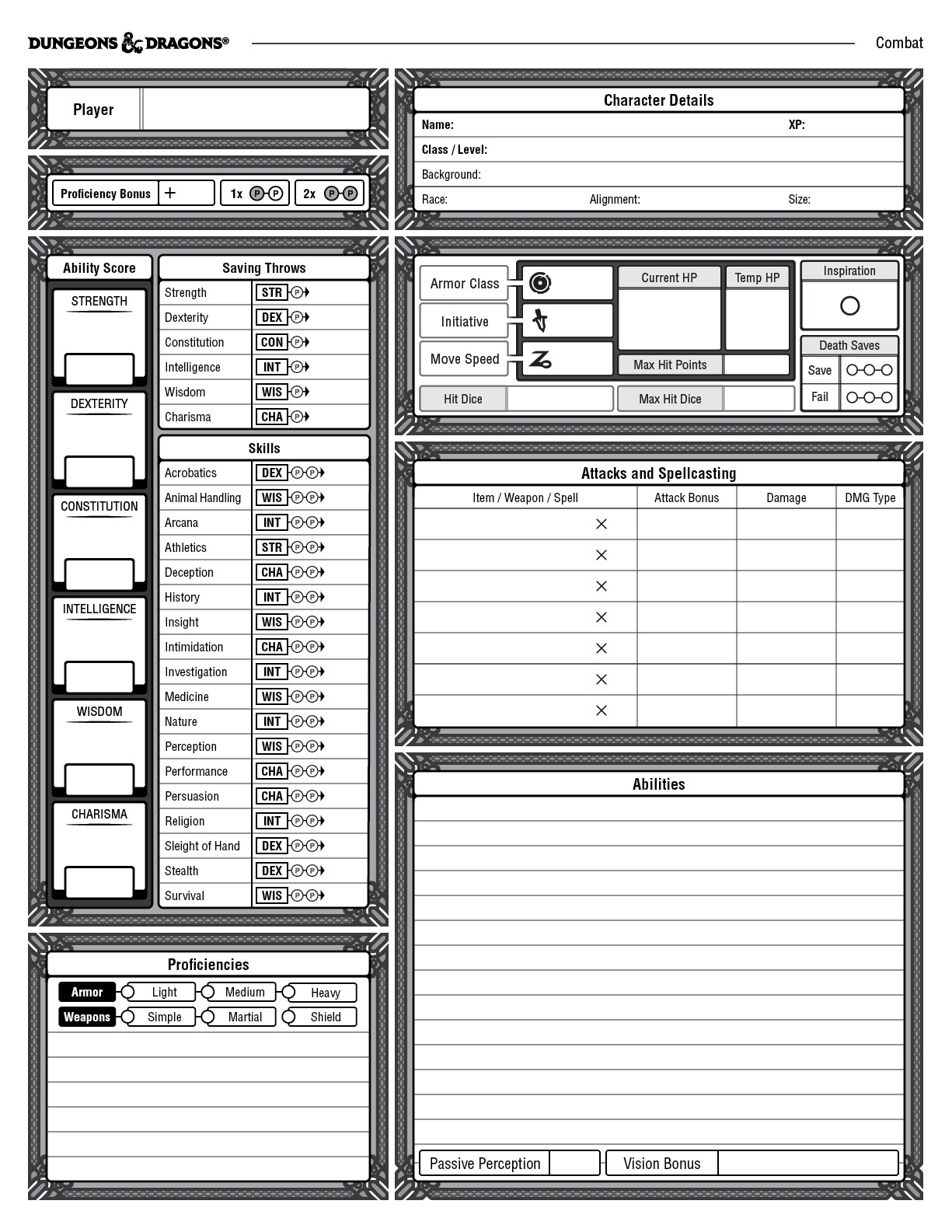 william lu character sheet for 5th edition resume combat fast food restaurant proper Resume D&d Character Sheet Resume