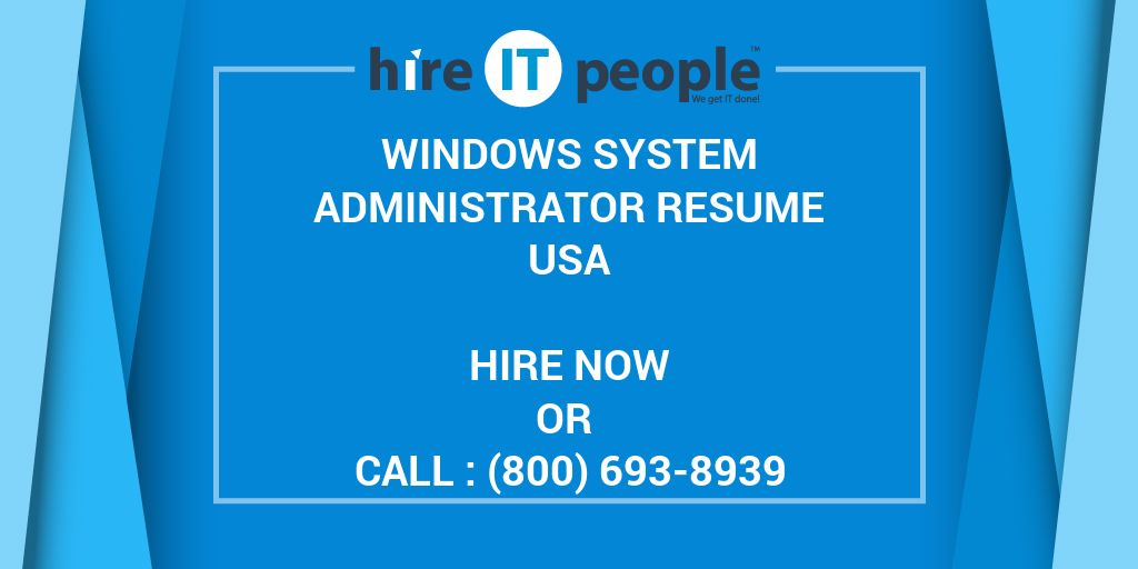 windows system administrator resume hire it people we get done symantec endpoint Resume Symantec Endpoint Protection Administrator Resume