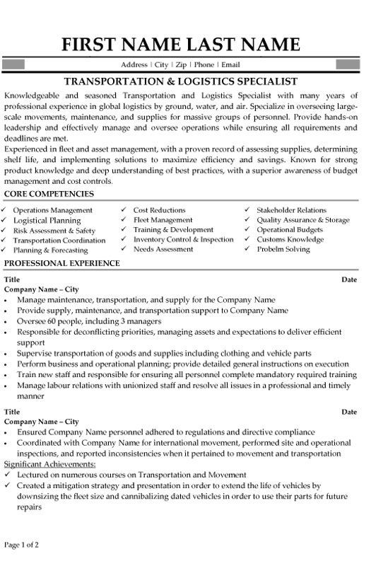 with logistics resume samples format for freshers cto examples help high school students Resume Logistics Resume For Freshers