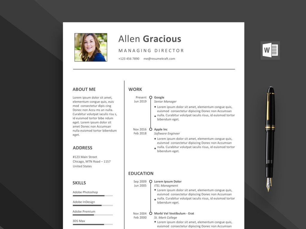 word resume template free daily mockup 1024x768 software development manager therapist Resume Free Resume Template Download 2020
