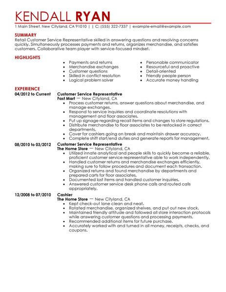 wording for customer service representative resume entry level civil engineering simple Resume Resume For Customer Representative