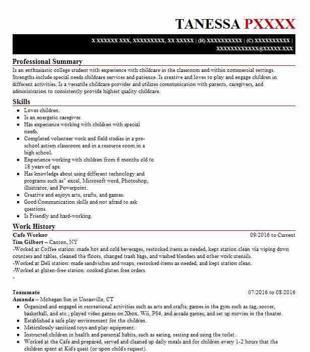worker resume example resumes livecareer customer service standard template makeup Resume Cafe Customer Service Resume