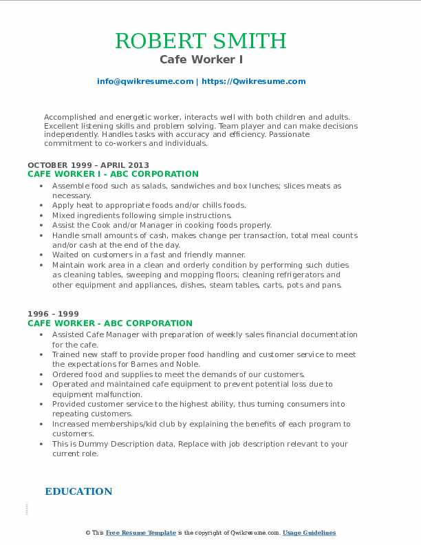 worker resume samples qwikresume customer service pdf middle initial on order picker uncg Resume Cafe Customer Service Resume