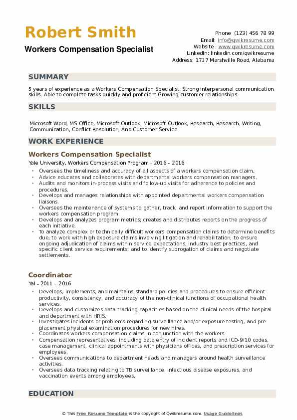 workers compensation specialist resume samples qwikresume pdf functional format special Resume Compensation Specialist Resume