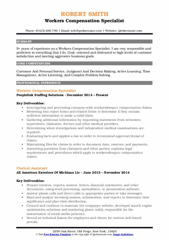 workers compensation specialist resume samples qwikresume pdf senior executive tips Resume Compensation Specialist Resume