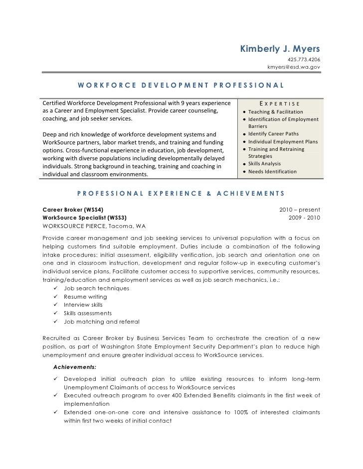 workforce development resume for one term job project management skills rules freshers Resume Resume For One Long Term Job
