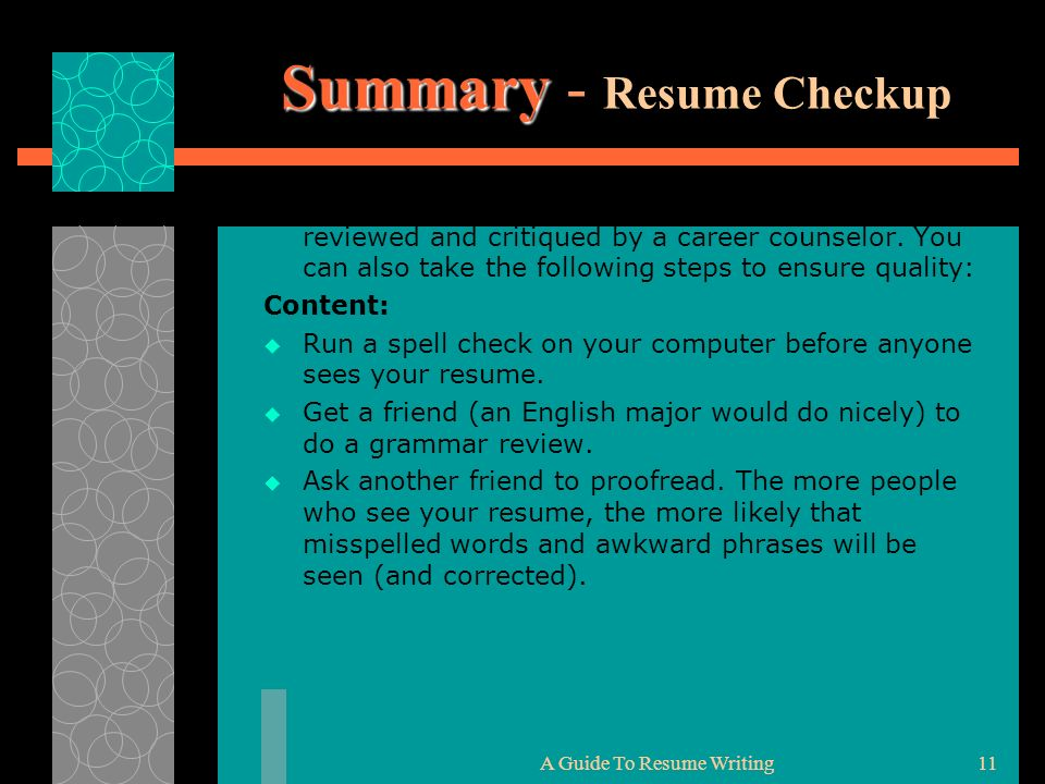 writing the effective resume curriculum vitae cv career counseling and summary checkup Resume Career Counseling And Resume Writing
