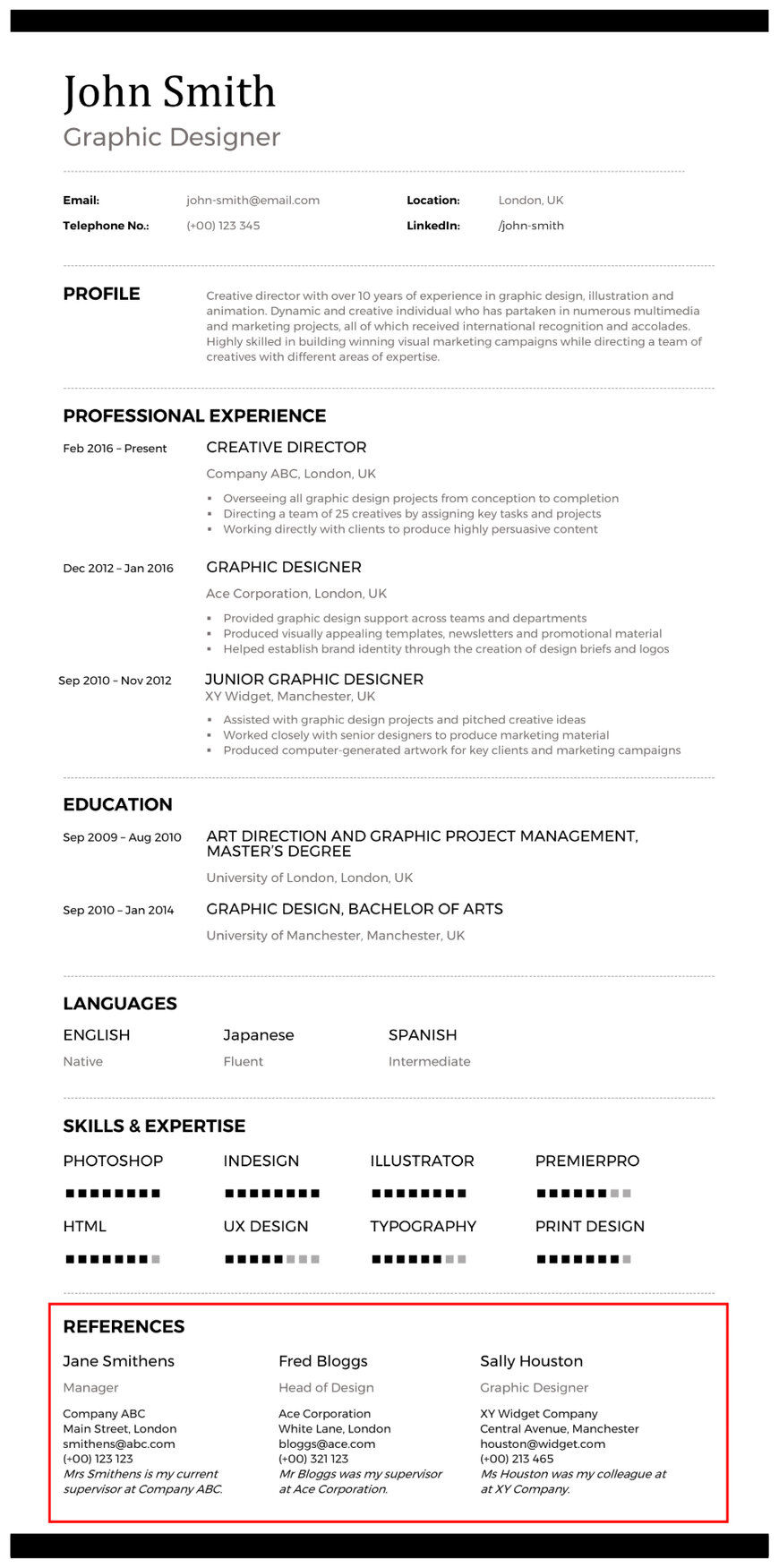 writing your cv references section questions answered appropriate for resume graphic Resume Appropriate References For Resume