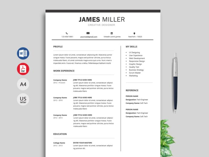 xpert resume template for professionals resumekraft designation on title examples Resume Designation On A Resume