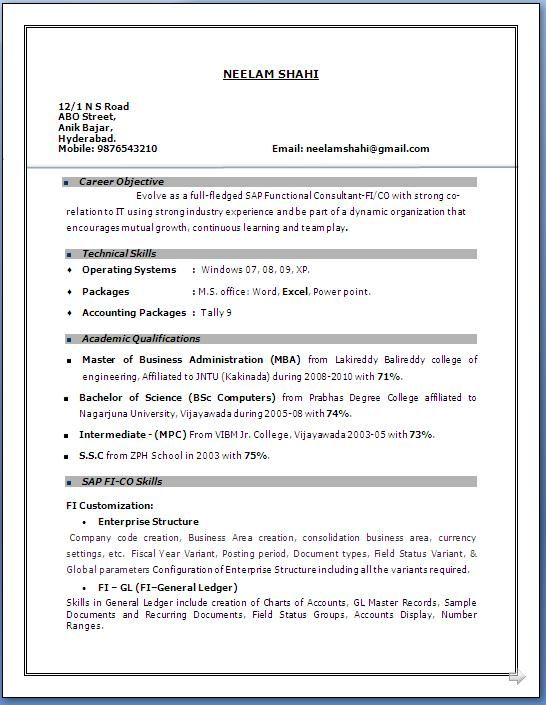 years experience resume format in word sample for construction manager objective examples Resume Sample Resume For 3 Years Experience