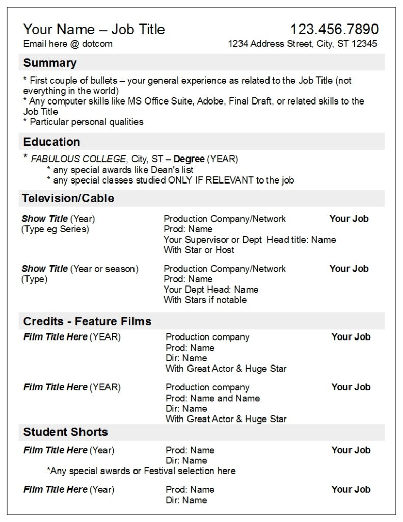 your credits by media not department robyn coburn résumé review theater producer resume Resume Theater Producer Resume